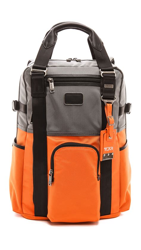 Tumi Backpacker 1 tumi alpha bravo lejeune backpack in orange for lyst