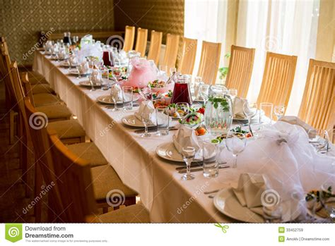 banquet table setup banquet table royalty free stock images image 33452759