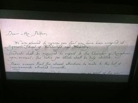 Hogwarts Acceptance Letter Prop Hogwarts Acceptance Letter All