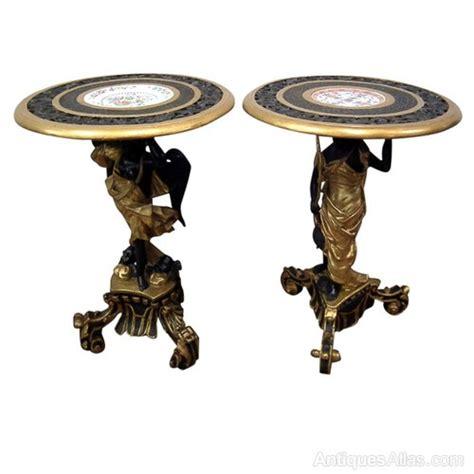 unusual side tables unusual pair of venetian blackamoor side tables antiques atlas