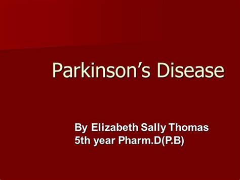 Parkinson S Disease Case Presentation Authorstream Parkinson S Disease Powerpoint Template