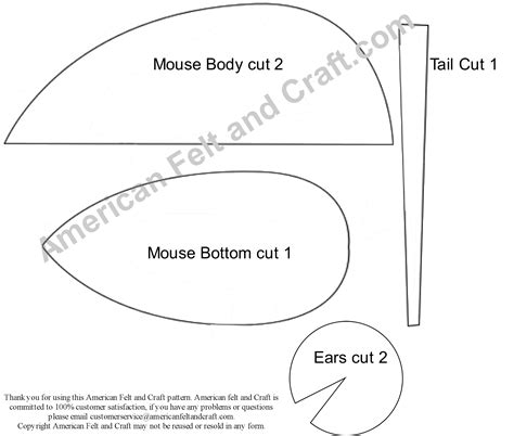 mouse template american felt craft blog