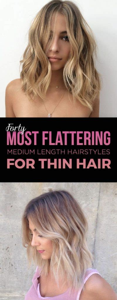 Hairstyles Medium Length Thin Hair by 15 Gorgeous Medium Length Hairstyles For Thin Hair 2017