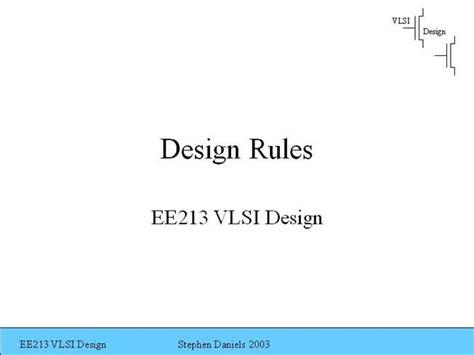 vlsi layout design rules pdf design rules authorstream