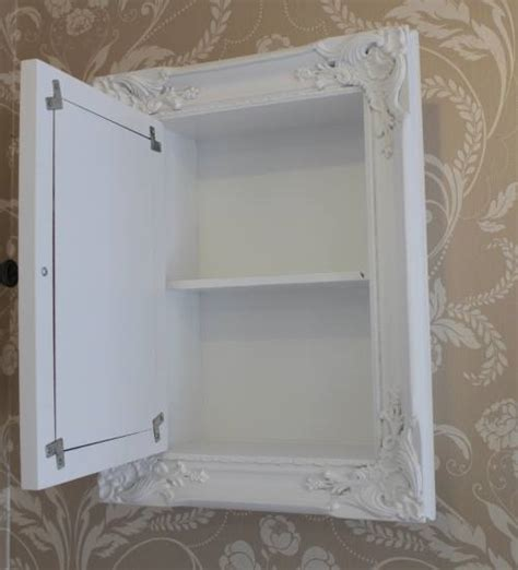 shabby chic wall cabinets for the bathroom white bathroom storage cabinet with mirror shabby vintage cupboard chic style ebay