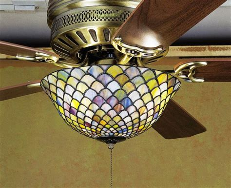 ceiling fan with stained glass light stained glass ceiling fan light shades stained glass