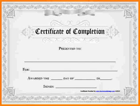 certificate of completion template free printable 10 free printable certificate of achievement sle of