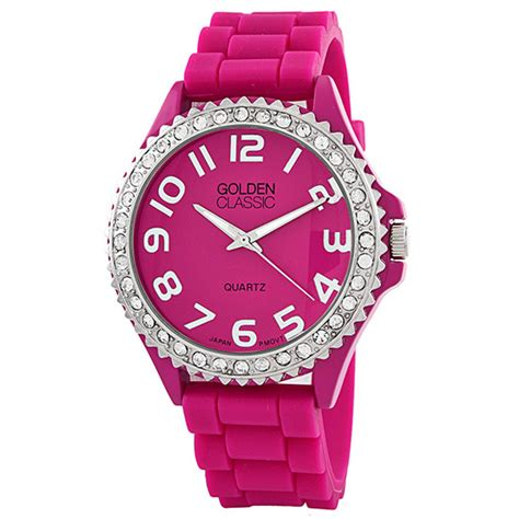 golden classic women s glam jelly watches