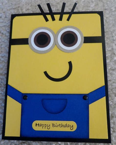 Handmade Minion Invitations - 25 best ideas about minion birthday card on