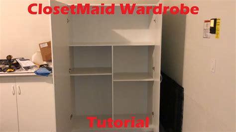 tutorial closetmaid wardrobe storage cabinet
