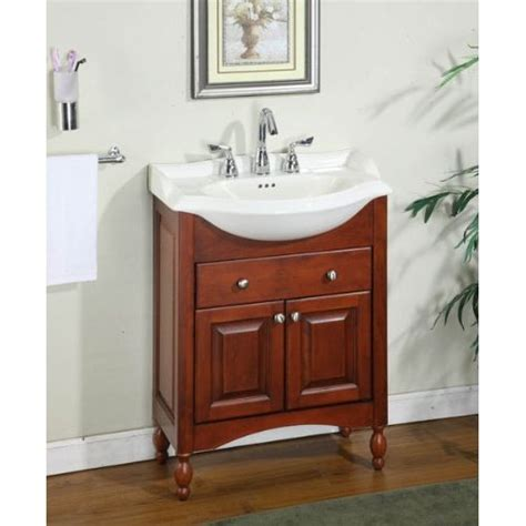 Slim Bathroom Vanity 26 quot narrow depth bathroom vanity base