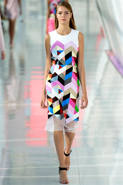 geometric pattern in fashion preen by thornton bregazzi spring summer sportswear