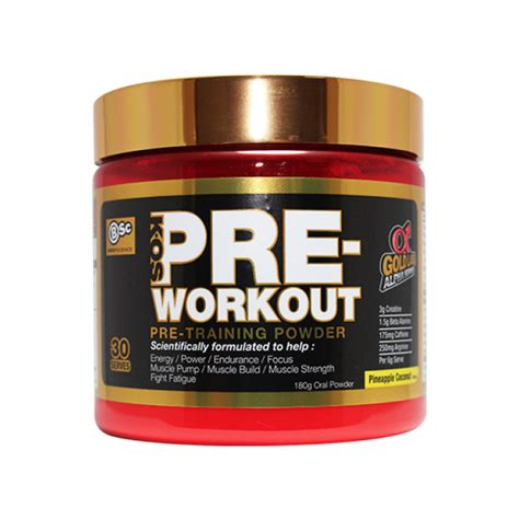 k os pre workout science international