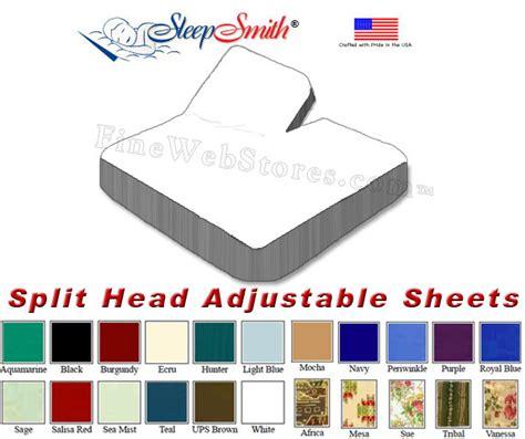King Size Adjustable Bed Sheets California King Split Adjustable Sheets 50 50