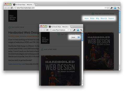 design menu tutorial 30 useful responsive web design tutorials hongkiat