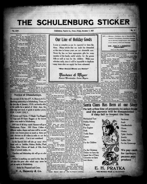 the schulenburg sticker schulenburg tex vol 33 no the schulenburg sticker schulenburg tex vol 24 no