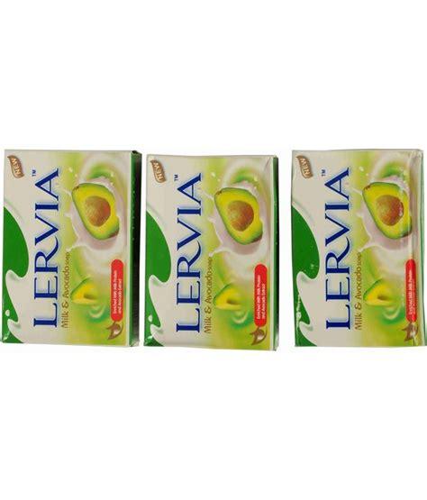 Lervia Milk And Soap 90gr lervia avocado milk soaps 90 gms x 3 pcs buy lervia