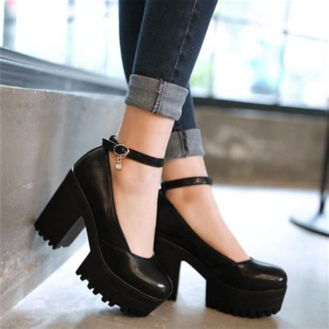 high heeled janes high heel platform pumps fs heel
