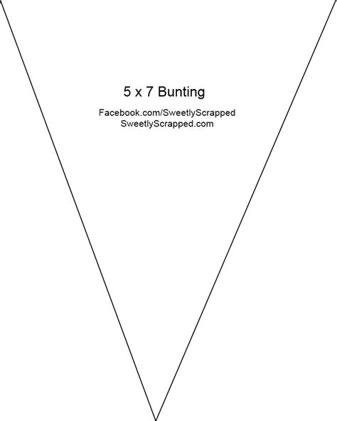 printable bunting template banners buntings pennants sweetly scrapped s free