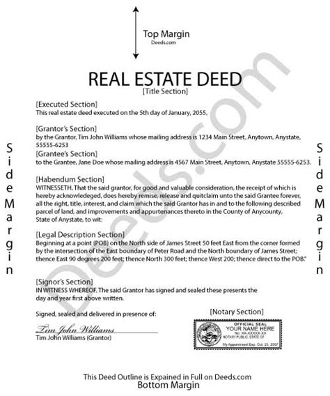 deed for house downloadable real estate deed forms fill in the blank