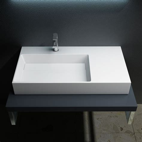 Durovin Bathroom Stone Wall Mountable Mount Counter Top Bathroom Sink Shelf