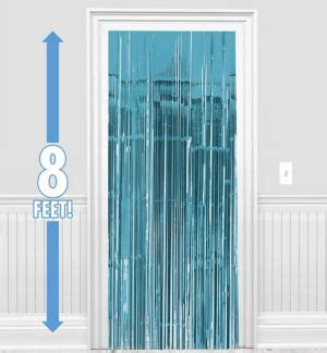 caribbean blue curtains caribbean blue fringe doorway curtain 3ft x 8ft party city