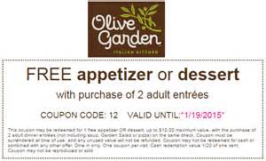 Garden Of Coupons Olive Garden Coupon Code August 2015