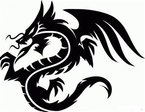 tribal dragon head tattoos images designs
