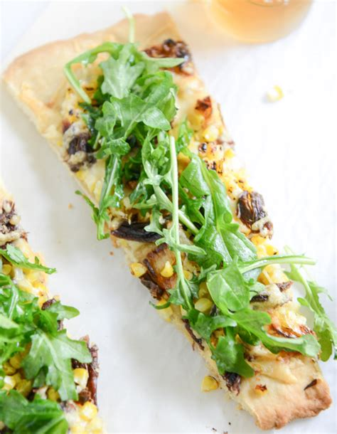 Wich Of The Week Grilled Gruyere With Braised Leeks by Rib Flatbread With Grilled Corn Gruyere And Arugula