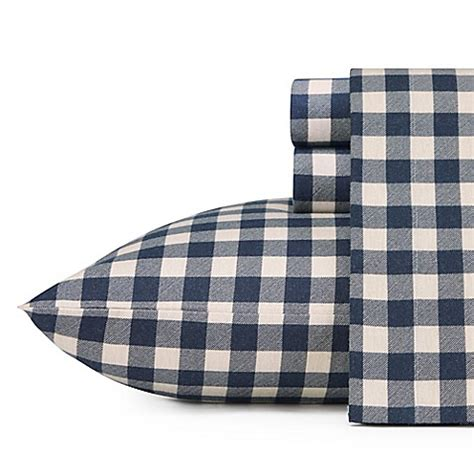 bed bath and beyond flannel sheets buy eddie bauer home preston flannel sheet set from bed