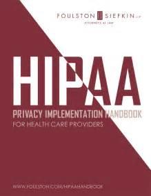 Hipaa privacy implementation handbook