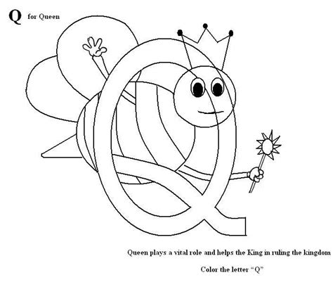 Printable Letter Q Coloring Pages by Letter Q Coloring Printable Page For