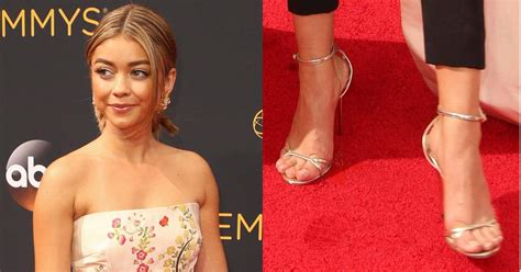 sarah hyland as molly sarah hyland in jimmy choo molly sandals at emmys