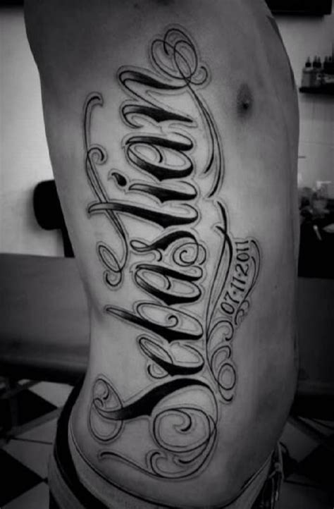 tattoo fonts joined up font tattooed tattoos inked