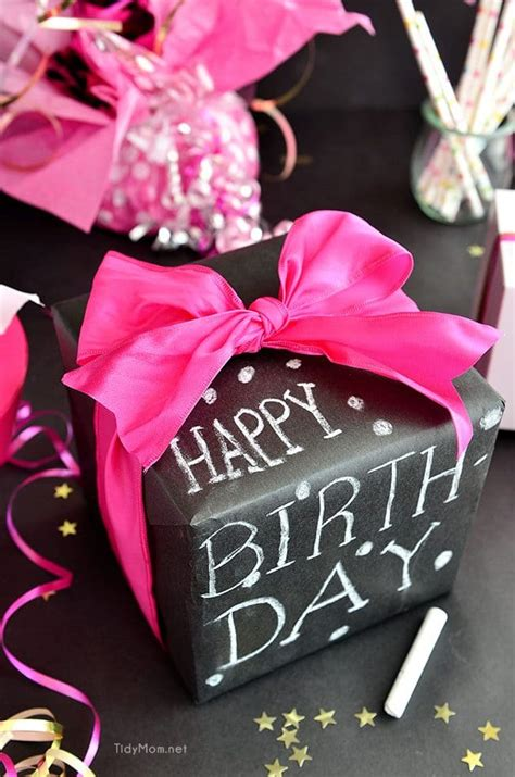 Birthday Gifts For by Diy Chalkboard Gift Wrap Tidymom 174