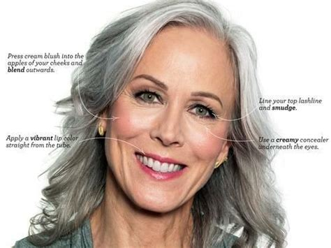 grey hair over 50 pdf evening makeup for gray hair highlights brown eyeliner