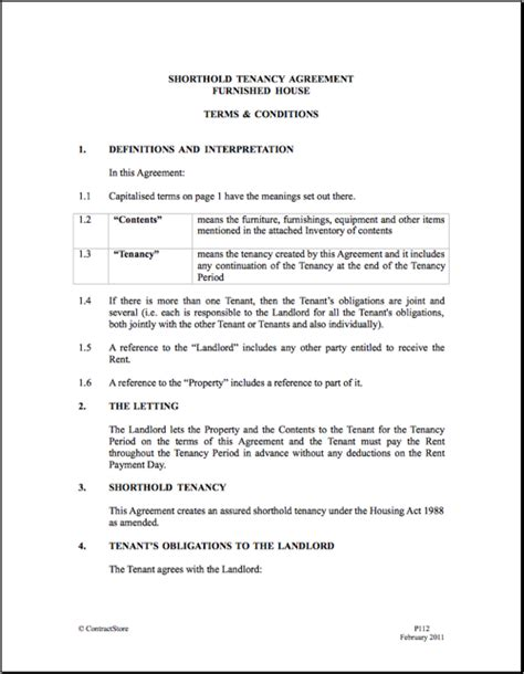 house tenancy agreement template emsec info