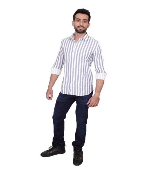 teds casual ted mosby grey stripes casual shirt for buy ted