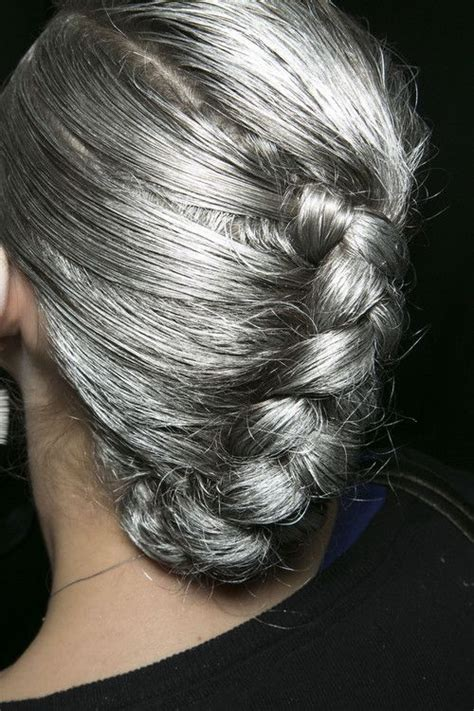 gray hair braided styles silver braided hair so pretty gray hair grey hair