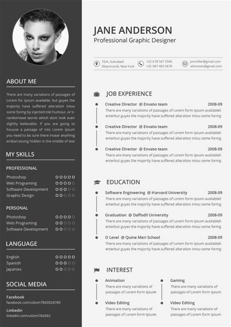20 Best Creative Resume Templates Exles 9 Creative Resume Design Tips With Template Exles Graphics Design Resume
