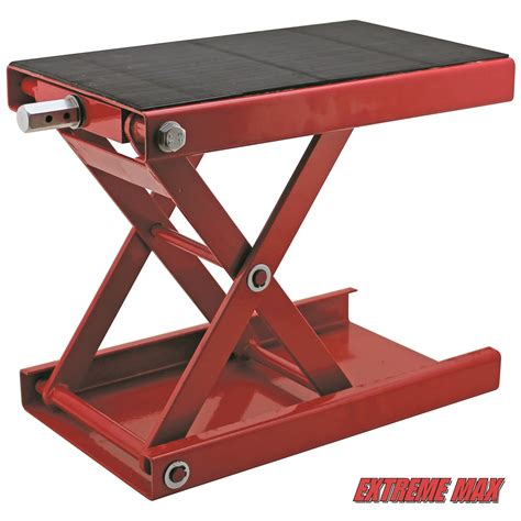 Center Jack Motorradheber by Extreme Max 5001 5044 1100 Lb Wide Motorcycle Scissor Jack