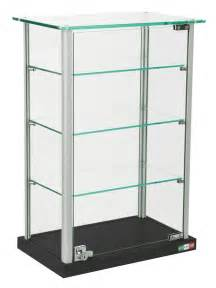 base tempered glass: small glass display case adjustable shelves locking hinged door