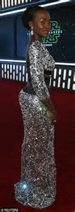 actress cat awakens lupita nyong o dazzles in gown at star wars the force