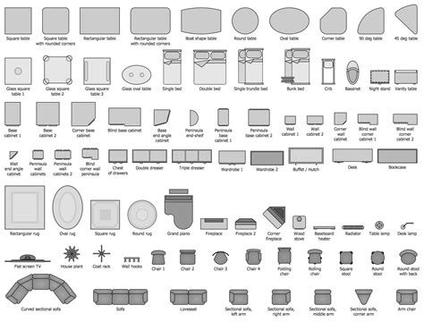 floor plan furniture clipart building plans basic floor design elements furniture