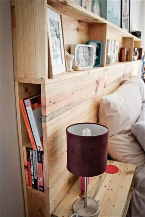 diy headboard with shelves 10 diy pallet headboard designs diy and crafts
