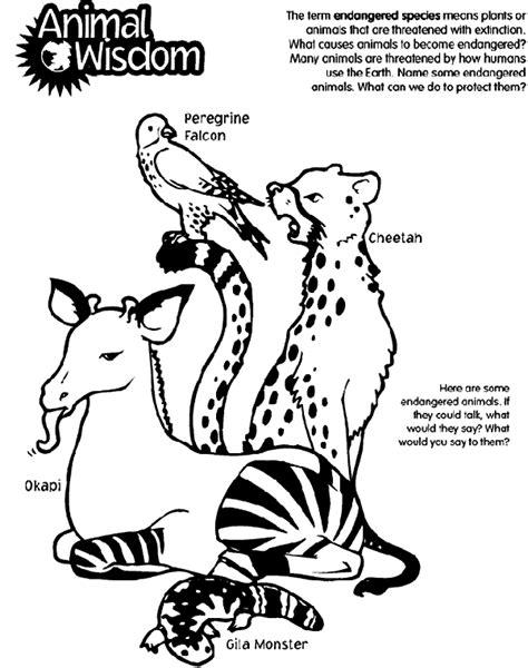 coloring pages of extinct animals animal wisdom coloring page crayola com