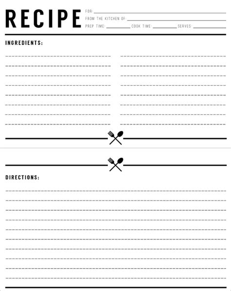 free black and white recipe card template word 17 recipe card templates free psd word pdf eps