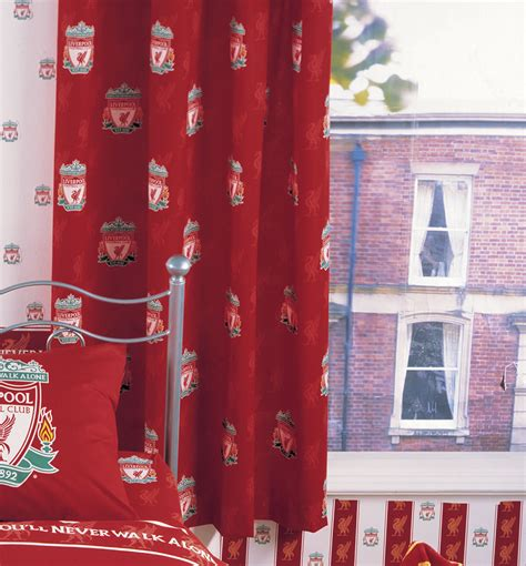 football curtain liverpool curtains football bedrooms