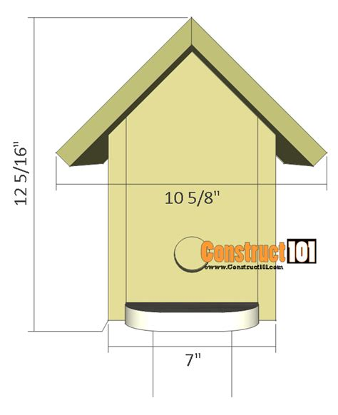 bluebird house plans pdf bluebird house plans illustrated plans construct101