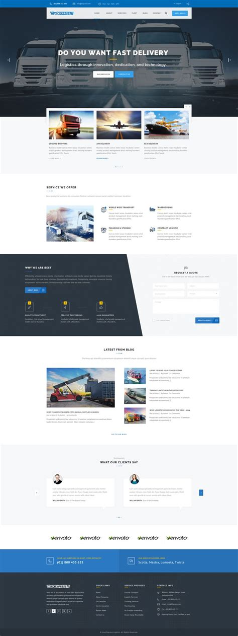 Express Logistics Transport Logistics Html Template 65 best images about reefer trucks on